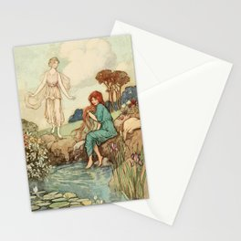 Beauties at the lake Stationery Cards