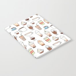 cute coffee pattern on white Notebook