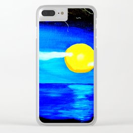 Retro Moon Clear iPhone Case