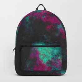 """Cellular Migration"" (Fuchsia/Teal) Digital Painting // Fine Art Print Backpack"