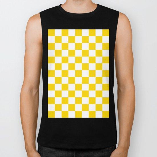 Checker (Gold/White) Biker Tank