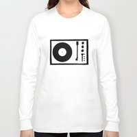 record Long Sleeve T-shirts featuring 'Record Player' by Ben Rowe