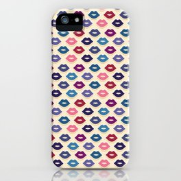 Retro Lips Pattern iPhone Case