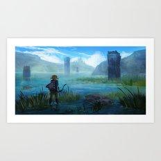 Lake Hylia Art Print