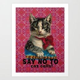 No to Cat Calls Art Print