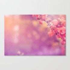 bokeh flowers Canvas Print