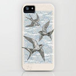 Free Bird (Three Swallows) iPhone Case