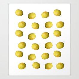 Lemon nature Art Print