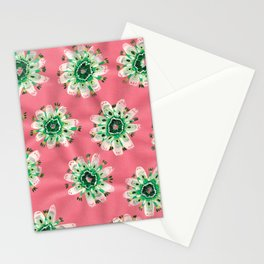 Emerald Lace Rose Stationery Cards