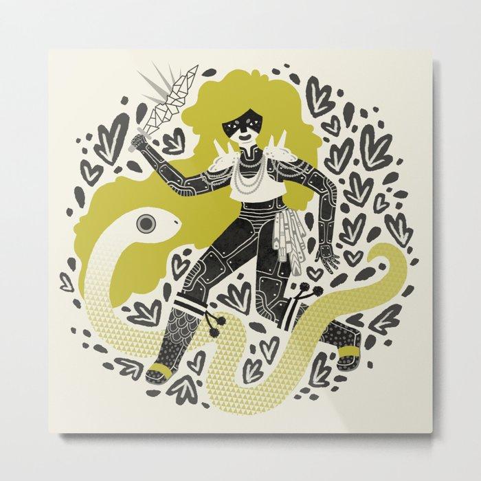 The Serpent Knight Metal Print