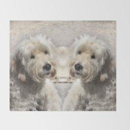 Dog Goldendoodle Golden Doodle Throw Blanket