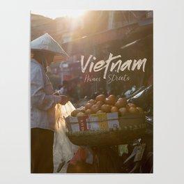 Vietnam Street Market (With text) Poster