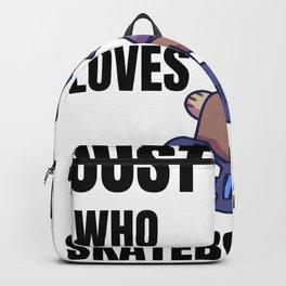 Dog Skateboard boy Backpack