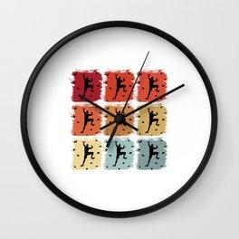 Retro Pop Art Bouldering Climber Wall Clock