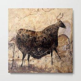 Lascaux Cave Cow I Metal Print