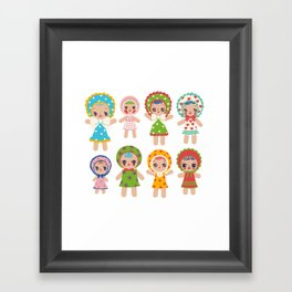 Bunka Dolls Framed Art Print