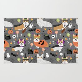 Corgi halloween costume ghost mummy vampire howl-o-ween dog gifts Rug