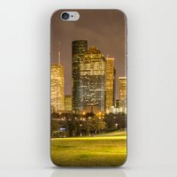houston iPhone & iPod Skins featuring houston skyline by franckreporter