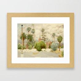 Palm Palms and Long Legs Framed Art Print
