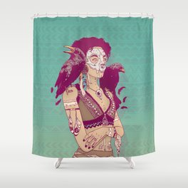Raven Lady Shower Curtain