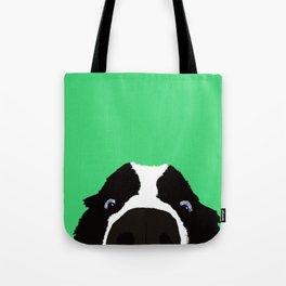 Begging Border Collie Tote Bag