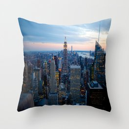New York City Dusk Throw Pillow