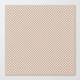 Maple Sugar and White Polka Dots Canvas Print