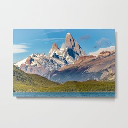 Lake and Andes Mountains, Patagonia - Argentina Metal Print