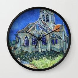 The Church at Auvers Vincent Van Gogh Wall Clock