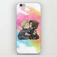 stucky iPhone & iPod Skins featuring Stucky chibi kiss by DeanDraws