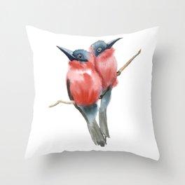 Couple Birds Throw Pillow