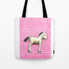 My little foal in a sea of pink Tote Bag