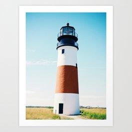 Nantucket Sconset Lighthouse Art Print