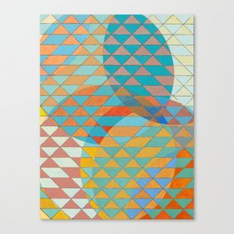 Triangle Pattern No. 11 Circles Canvas Print