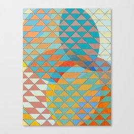 Triangle Pattern No. 11 Circles Canvas Print