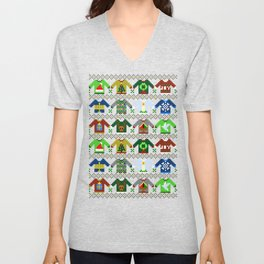 The Ugly 'Ugly Christmas Sweaters' Sweater Design Unisex V-Neck
