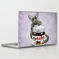 nutella Laptop & iPad Skins featuring Sweet aim // galago and nutella by Anna Shell