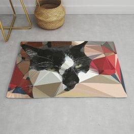 James & Red Comforter Low Poly Geometric Art Rug