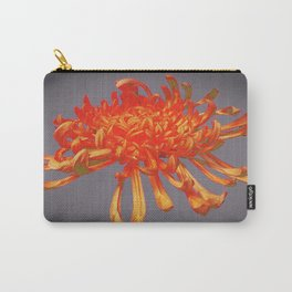 Grey Abstract of Golden-Orange Spider Mum Carry-All Pouch