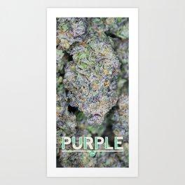 Purple Stalagmite Art Print