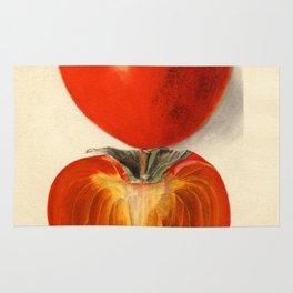 Vintage Plum Tomato Illustration Rug