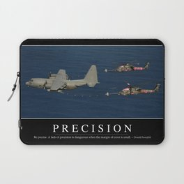 Precision: Inspirational Quote and Motivational Poster Laptop Sleeve