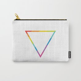 Pride: Rainbow Geometric Triangle Carry-All Pouch