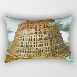 Pieter Bruegel the Elder's The Tower of Babel Rectangular Pillow