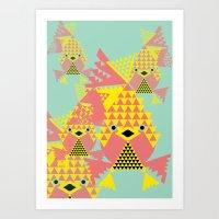 School of Modular Gold Fish. Art Print
