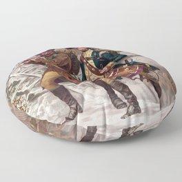 Revolutionary War Soldiers Marching Floor Pillow