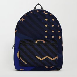 Golden Blue Backpack