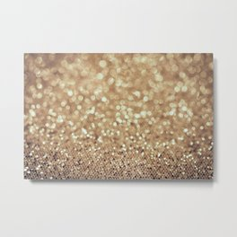 All That Glitters Is Gold Bokeh Metal Print