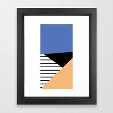 shapes and stripes Framed Art Print