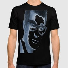 Buddy Holly LARGE Black Mens Fitted Tee